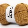 Lot of 4 x 100gr Skeins Ice Yarns WOOL BULKY GLITZ (25% Wool) Yarn Light Brown Gold