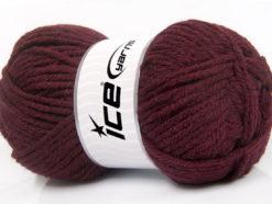 Lot of 4 x 100gr Skeins Ice Yarns WOOL BULKY GLITZ (25% Wool) Yarn Maroon