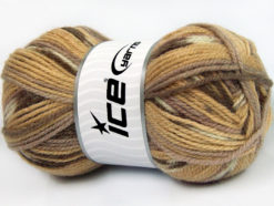 Lot of 4 x 100gr Skeins Ice Yarns JACQUARD (50% Wool) Yarn Brown Shades