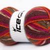 Lot of 4 x 100gr Skeins Ice Yarns JACQUARD (50% Wool) Yarn Brown Shades Fuchsia Orange Purple