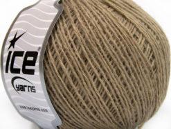 Lot of 8 Skeins Ice Yarns WOOL FINE (50% Wool) Hand Knitting Yarn Camel