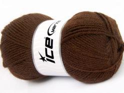Lot of 4 x 100gr Skeins Ice Yarns FAVOURITE WOOL (50% Wool) Yarn Brown