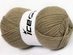 Lot of 4 x 100gr Skeins Ice Yarns FAVOURITE WOOL (50% Wool) Yarn Camel