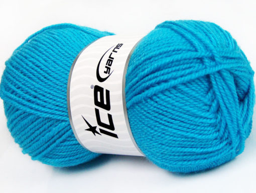 Lot of 4 x 100gr Skeins Ice Yarns FAVOURITE WOOL (50% Wool) Yarn Turquoise