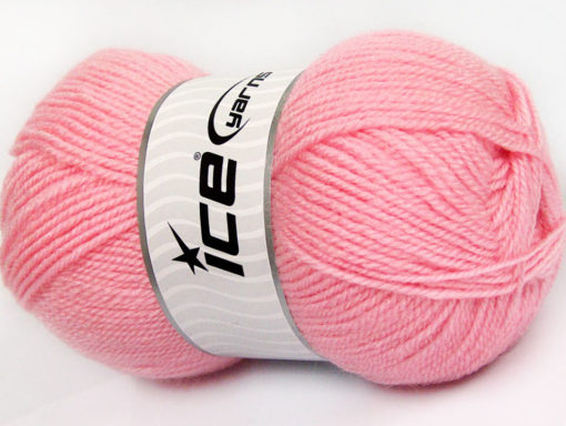 Lot of 4 x 100gr Skeins Ice Yarns FAVOURITE WOOL (50% Wool) Yarn Light Pink