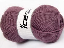 Lot of 4 x 100gr Skeins Ice Yarns FAVOURITE WOOL (50% Wool) Yarn Lavender