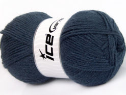 Lot of 4 x 100gr Skeins Ice Yarns FAVOURITE WOOL (50% Wool) Yarn Navy