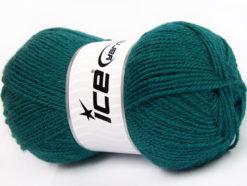 Lot of 4 x 100gr Skeins Ice Yarns FAVOURITE WOOL (50% Wool) Yarn Teal