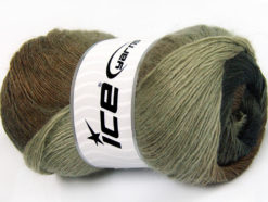 Lot of 4 x 100gr Skeins Ice Yarns ALPACA ACTIVE (20% Alpaca 20% Wool) Yarn Brown Shades Anthracite