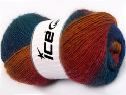 Lot of 4 x 100gr Skeins Ice Yarns ALPACA ACTIVE (20% Alpaca 20% Wool) Yarn Purple Blue Teal Red Orange
