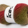 Lot of 4 x 100gr Skeins Ice Yarns ALPACA ACTIVE (20% Alpaca 20% Wool) Yarn Burgundy Green Brown Shades Cream