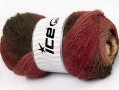 Lot of 4 x 100gr Skeins Ice Yarns ALPACA ACTIVE (20% Alpaca 20% Wool) Yarn Brown Shades Burgundy