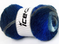Lot of 4 x 100gr Skeins Ice Yarns ALPACA ACTIVE (20% Alpaca 20% Wool) Yarn Blue Shades Grey