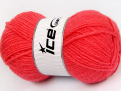 Lot of 4 x 100gr Skeins Ice Yarns FAVOURITE WOOL (50% Wool) Yarn Candy Pink