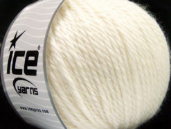 Lot of 3 x 100gr Skeins Ice Yarns SUPERBULKY WOOL (40% Wool) Yarn Cream