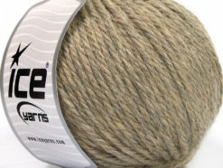 Lot of 3 x 100gr Skeins Ice Yarns SUPERBULKY WOOL (40% Wool) Yarn Camel Melange