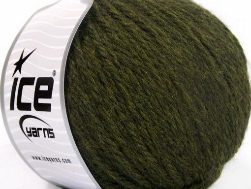 Lot of 3 x 100gr Skeins Ice Yarns SUPERBULKY WOOL (40% Wool) Yarn Dark Green