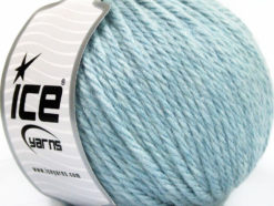 Lot of 3 x 100gr Skeins Ice Yarns SUPERBULKY WOOL (40% Wool) Yarn Baby Blue