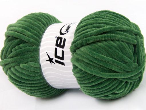 Lot of 4 x 100gr Skeins Ice Yarns CHENILLE BABY (100% MicroFiber) Yarn Jungle Green