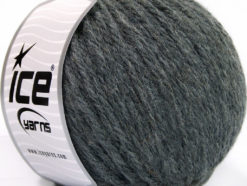 Lot of 3 x 100gr Skeins Ice Yarns SUPERBULKY WOOL (40% Wool) Yarn Dark Grey