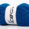 Lot of 4 x 100gr Skeins Ice Yarns FAVOURITE WOOL (50% Wool) Yarn Blue