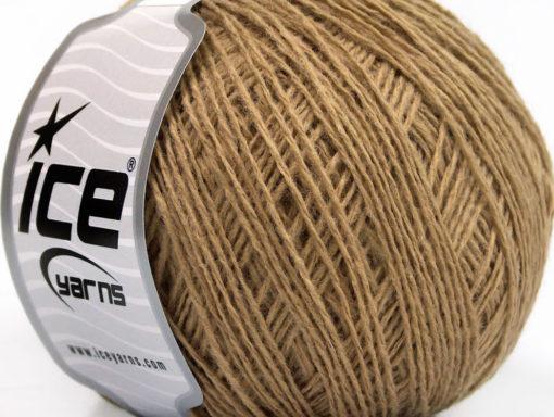 Lot of 8 Skeins Ice Yarns WOOL FINE (50% Wool) Hand Knitting Yarn Cafe Latte