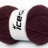 Lot of 4 x 100gr Skeins Ice Yarns FELTING WOOL (100% Wool) Yarn Maroon