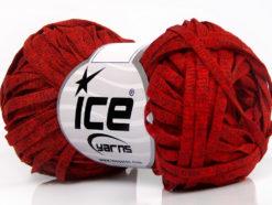 Lot of 8 Skeins Ice Yarns VISCOSE SHINE BULKY (82% Viscose) Yarn Red Melange