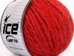 Lot of 3 x 100gr Skeins Ice Yarns SUPERBULKY WOOL (40% Wool) Yarn Red