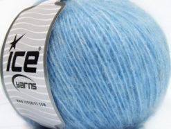 Lot of 8 Skeins Ice Yarns ALPACA SOFTAIR (25% Alpaca 15% Superwash Merino Wool) Yarn Blue Melange