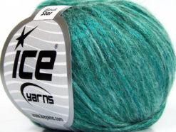 Lot of 8 Skeins Ice Yarns ROCK STAR (19% Merino Wool) Yarn Emerald Green