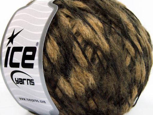 Lot of 8 Skeins Ice Yarns WOOL DROPS (50% Wool) Hand Knitting Yarn Camel Beige