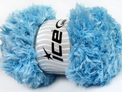 Lot of 2 x 200gr Skeins Ice Yarns LAMBKIN (100% MicroFiber) Yarn Light Blue