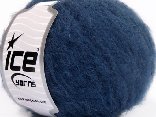 Lot of 8 Skeins Ice Yarns PIUMOTTO MOHAIR (20% Mohair 10% Wool) Yarn Navy