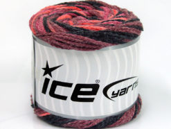 Lot of 2 x 150gr Skeins Ice Yarns CAKES AIR Yarn Maroon Salmon Black