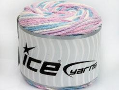 Lot of 2 x 150gr Skeins Ice Yarns CAKES AIR Yarn Light Pink Light Blue Light Lilac White
