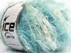 Lot of 8 Skeins Ice Yarns MODENA VISCOSE (40% Viscose 30% Wool) Yarn Mint Green Shades White