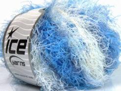 Lot of 8 Skeins Ice Yarns MODENA VISCOSE (40% Viscose 30% Wool) Yarn Blue Shades White