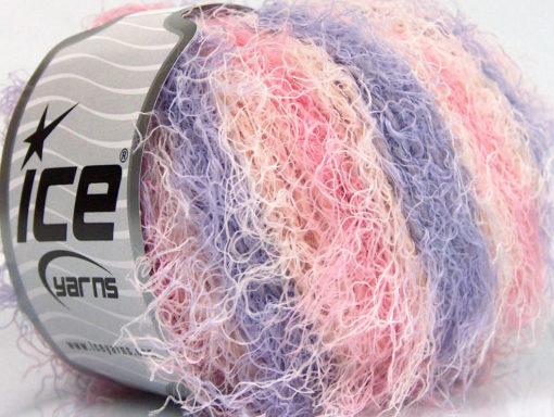 Lot of 8 Skeins Ice Yarns MODENA VISCOSE (40% Viscose 30% Wool) Yarn Pink Light Salmon Lilac