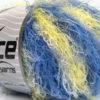 Lot of 8 Skeins Ice Yarns MODENA VISCOSE (40% Viscose 30% Wool) Yarn Blue Shades Yellow