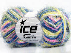 Lot of 8 Skeins Ice Yarns CYCLAMEN Hand Knitting Yarn Blue Pink Neon Yellow