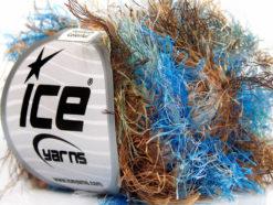 Lot of 8 Skeins Ice Yarns LONG EYELASH COLORFUL Yarn Blue Green Brown Gold