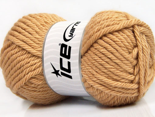 Lot of 4 x 100gr Skeins Ice Yarns ATLAS SUPERBULKY Yarn Light Brown