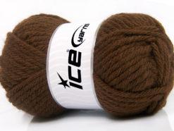Lot of 4 x 100gr Skeins Ice Yarns ATLAS SUPERBULKY Hand Knitting Yarn Brown