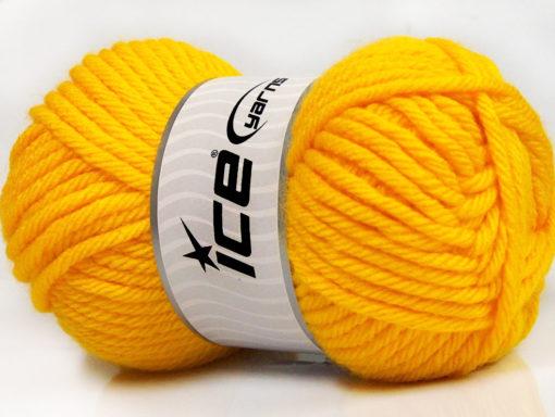 Lot of 4 x 100gr Skeins Ice Yarns ATLAS SUPERBULKY Hand Knitting Yarn Yellow