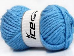 Lot of 4 x 100gr Skeins Ice Yarns ATLAS SUPERBULKY Hand Knitting Yarn Blue