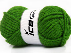 Lot of 4 x 100gr Skeins Ice Yarns ATLAS SUPERBULKY Hand Knitting Yarn Green