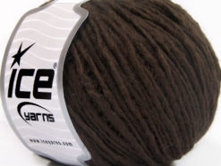 Lot of 8 Skeins Ice Yarns WOOL CORD ARAN (50% Wool) Yarn Coffee Brown