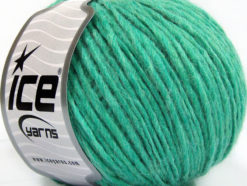 Lot of 8 Skeins Ice Yarns WOOL CORD ARAN (50% Wool) Yarn Emerald Green