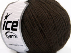 Lot of 8 Skeins Ice Yarns WOOL CORD SPORT (50% Wool) Yarn Coffee Brown